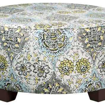 "Hooper 31"" Cocktail Ottoman, Blue/Gray, Ottomans"