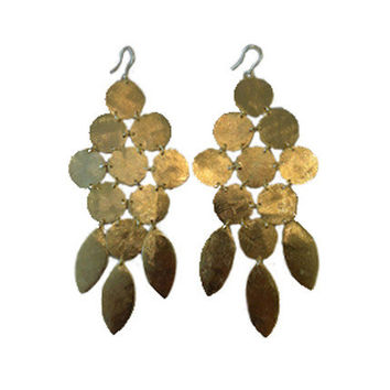 Marcia Moran Chandelier Earring Gold | As Seen on Pretty Wicked Mom- Emily Dees-Boulden | Buy at SwankAtlanta.com - Marcia Moran - $122.00 - Swank Atlanta
