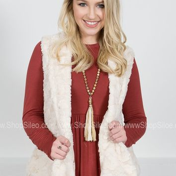 Paris Cream Faux-Fur Vest