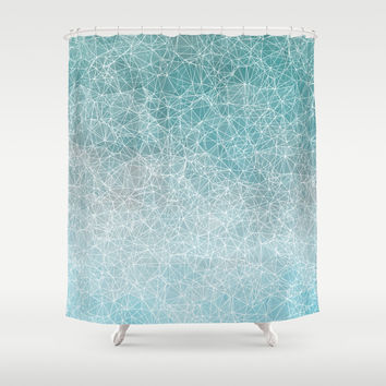 Polygonal A3 Shower Curtain by VanessaGF