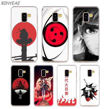 Transparent TPU Phone Cases Hokage Naruto Kakashi for Samsung Galaxy A8 A7 A6 A5 A3 Plus 2018 2017 2016