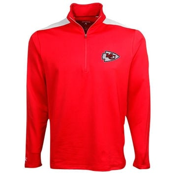 Antigua Kansas City Chiefs New Logo Succeed Quarter-Zip Pullover Jacket - Red
