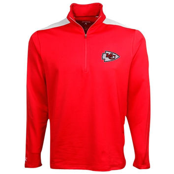 Mens Kansas City Chiefs Antigua Red Volt Crew Sweatshirt