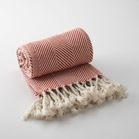 Brahms Mount Cotton Herringbone Throw