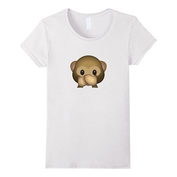 Cute Speak No Evil Monkey Emoji T-Shirt