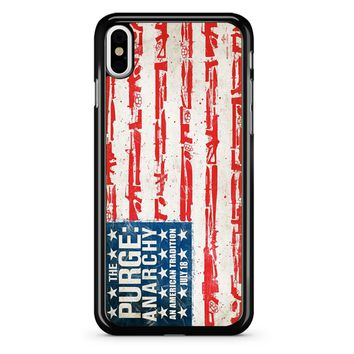 The Purge Anarchy Flag iPhone X Case