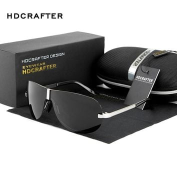 Clearance Sale HDCRAFTER Rimless Men's Sunglasses Polarized UV400 Lens Sun Glasses Male Eyewears Accessories For Men
