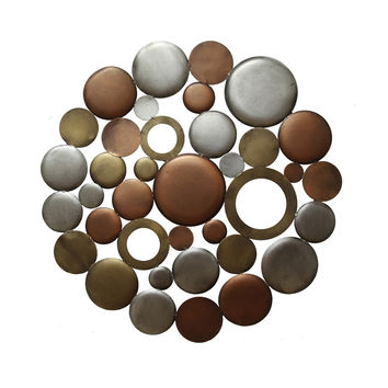 Stratton Home Decor Wall Hanging Multi Metallic Circle Burst
