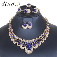 AYAYOO Jewelry Sets Fashion African Costume Jewelry Set Wedding Jewellery Sets For Women Nigerian Beads Necklace Jewelry Set