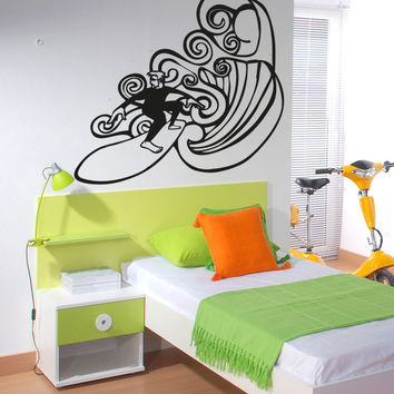 Vinyl Wall Decal Sticker Surfer #OS_AA1243