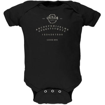Halloween Ouija Board Costume Black Soft Baby One Piece