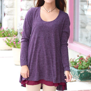 Double Trouble Layered Tunic {Plum}