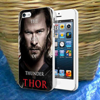 Thor The God Of Thunder iPhone 4 4S 5 5S 5C , iPod Touch 4 5 and Samsung Galaxy S3 S4 S5 Note 3 Case