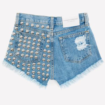 Sasha Stone Half Studded High Waist Shorts
