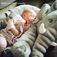 Soft Baby Elephant Pillow Children Sleeping Cushion Room Baby Bedding Pillows