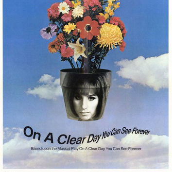 On A Clear Day You Can See Forever 11x17 Movie Poster (1970)
