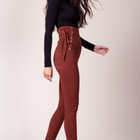 Lace Me Up Skinny Pants