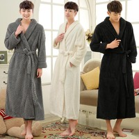 Thick Warm Bathrobe Thermal Coral