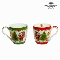 Set of 2 christmas mugs by Bravissima Kitchen