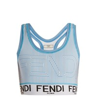 Striped logo-print performance bra | Fendi | MATCHESFASHION.COM US