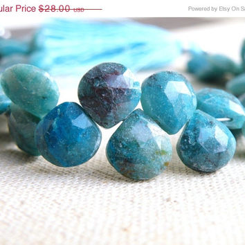 51% Off Chrysocolla Gemstone Briolette Faceted Heart 12mm 12 beads