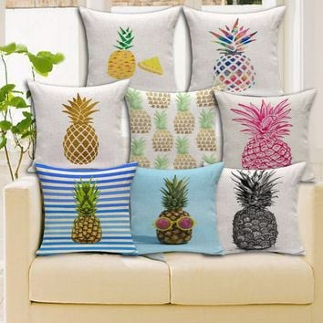 """18"""" Pineapple Patterns Cushion Covers"""
