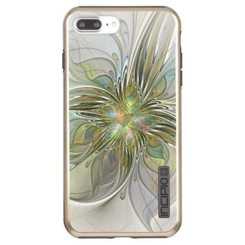Floral Fantasy Modern Fractal Art Flower With Gold Incipio DualPro Shine iPhone 7 Plus Case