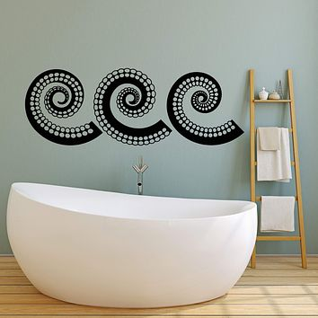 Vinyl Wall Decal Tentacles of Octopus Ocean Sea Style Animals Stickers (2418ig)