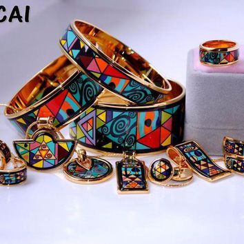 CREYLD1 Cloisonne enamel jewelry European and American style 4pcs sets