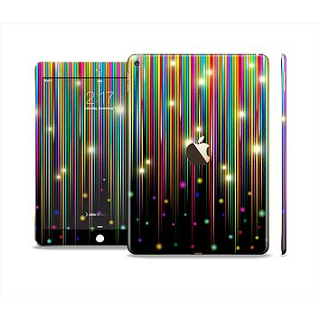 The Falling Neon Color Strips Skin Set for the Apple iPad Air 2