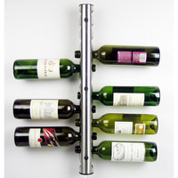 Stainless Steel 8 12 holes liqour beer Wine wisky Holder stand Rack Bar Wall Mounted grip Kitchen accessories Storage Organizer