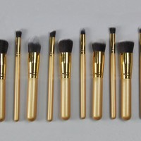 10-pcs Professional Makeup Brush Sets [6050183681]