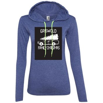 Griswold Family Christmas 887L Anvil Ladies' LS T-Shirt Hoodie