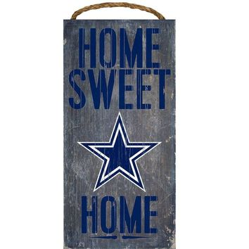 Dallas Cowboys Home Sweet Home Premium Wood Sign