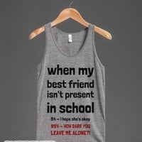 My Friend Isn't At School-Unisex Athletic Grey Tank