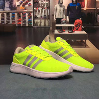 """Adidas NEO"" Fashion Casual Multicolor Stripe Breathable Net Unisex Sneakers Couple Running Shoes"