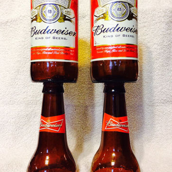 Budweiser Beer Bottle Wine Glasses.