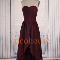 Formal Hi Low Bridesmaid Dresses Fashion Prom Dresses Homecoming Dresses Simple Evening Dresses Wedding Party Dresses Hot Party Dress