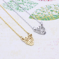 Cheetah necklace in  silver or gold tone