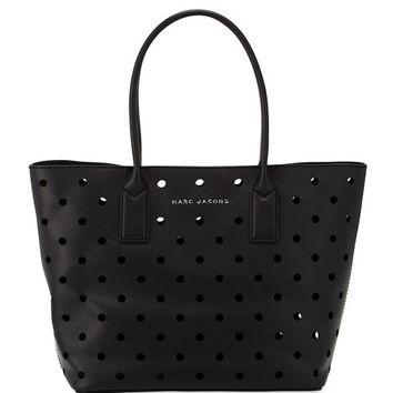 Marc Jacobs Perforated Leather Tote Bag, Black