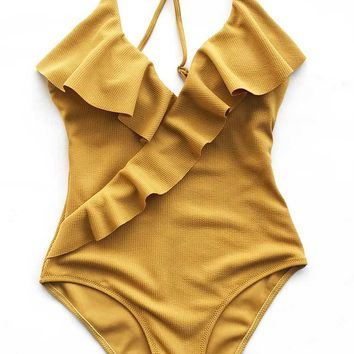 Cupshe Divine Destiny Solid One-piece Swimsuit