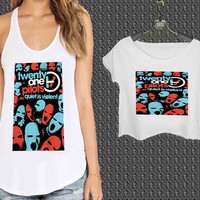 NEW 21 TWENTY ONE PILOTS For Woman Tank Top , Man Tank Top / Crop Shirt, Sexy Shirt,Cropped Shirt,Crop Tshirt Women,Crop Shirt Women S, M, L, XL, 2XL**