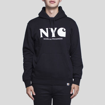 Hooded New York City Sweatshirt / Black