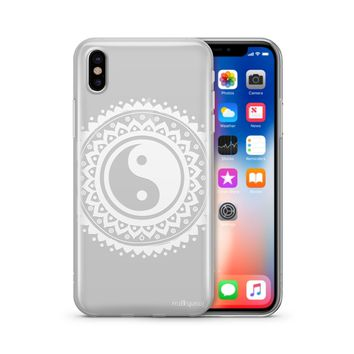 Henna Tribal Yin Yang - Clear TPU Case Cover Phone Case