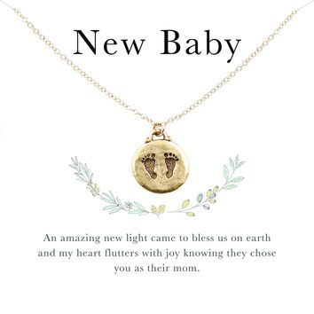 New Baby Footprint Necklace