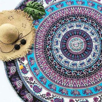 Cupshe Purple Elephant Tapestry
