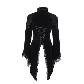 Black Beaded Tailcoat Jacket