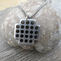 Men's Necklace - Men's Geometric Necklace - Men's Silver Necklace - Mens Jewelry - Necklaces For Men - Jewelry For Men - Gift for Him