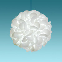 "Deluxe Rounds 22"" Cool White Glow Modern Ceiling Hanging Light Fixtures Plug in or Hardwire as Pendant Lamp bulb included, Easy to install"