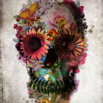 SKULL 2 Art Print by Ali GULEC | Society6